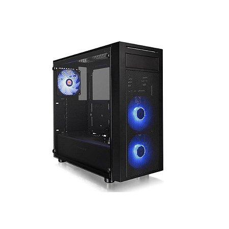 Gabinete Gamer Thermaltake Versa J22 Tg Rgb Preto/led