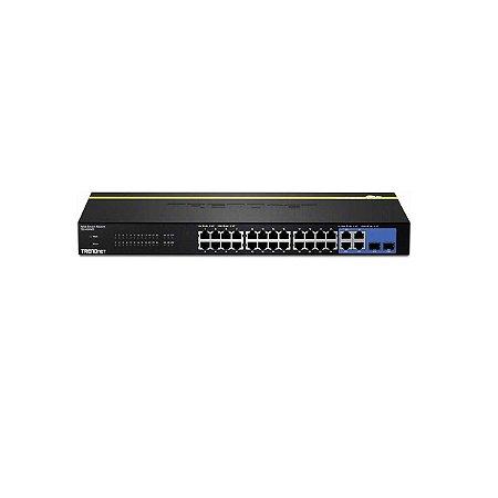 Switch Trendnet 24pt Teg-424ws 10/100 Mbps 4Pt Gigabit 2Slot