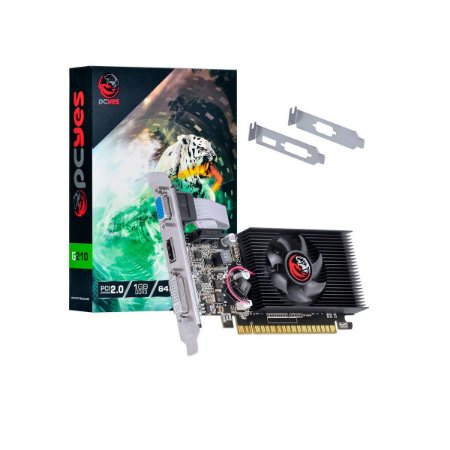 Placa De Vídeo Pcyes Geforce Gt210 1gb Ddr3 Pa210g6401d3lp