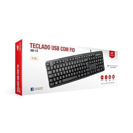 Teclado Usb C3 Tech Preto Kb-15bk