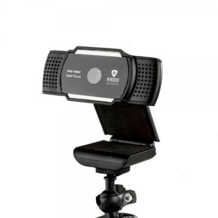 Webcam Kross Elegance Full Hd1080p Foco Auto Tripé Ajustável