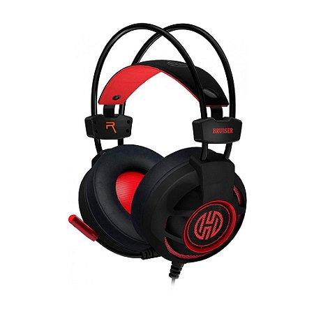 Headset Gamer Hoopson Bruiser Led Usb Vermelho Dg28r