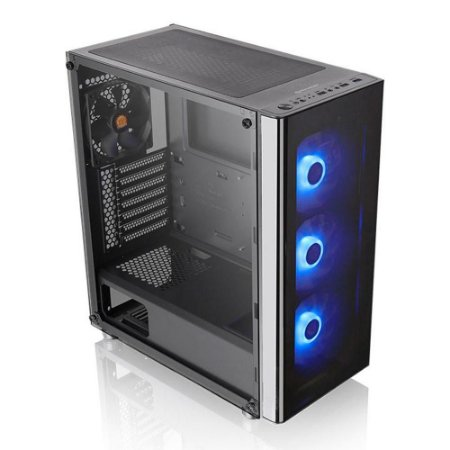 Gabinete Gamer Thermaltake V200 Rgb MidTower 4Fan Vidro Temp
