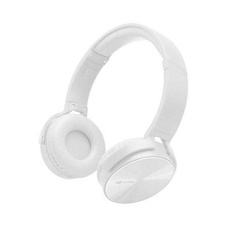 Fone Headset C3 Tech Dobrável Com Microfone Branco Ph-110wh