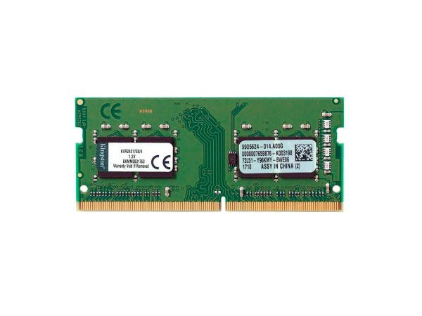 Memória Kingston 4gb 2400mhz Ddr4 Notebook Cl17 Kvr24s17s8/4