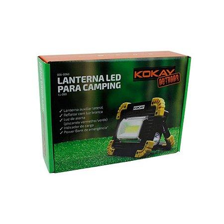 Lanterna Led Para Camping Com Refletor 5w Á Pilha Kokay
