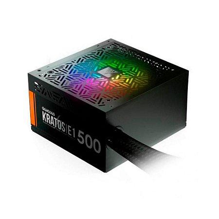 Fonte Gamdias Kratos E1 500w Add-rgb 80 Plus Gd-z500zzz
