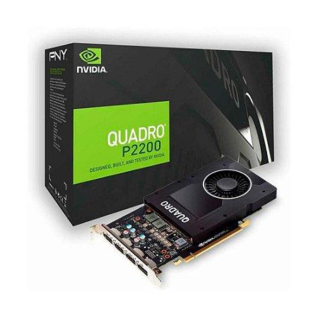 Placa De Vídeo Pny Nvidia Quadro P2200 5G Gddr5x Vcqp2200blk