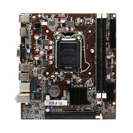 Placa Mae Afox H61 Ih61-ma5 V2 Lan 1000 Mbps Ddr3 Usb 2.0
