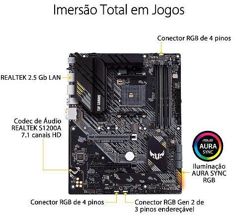 Placa Mãe Asus Tuf Gaming B550-plus Amd Am4 Atx Ddr4