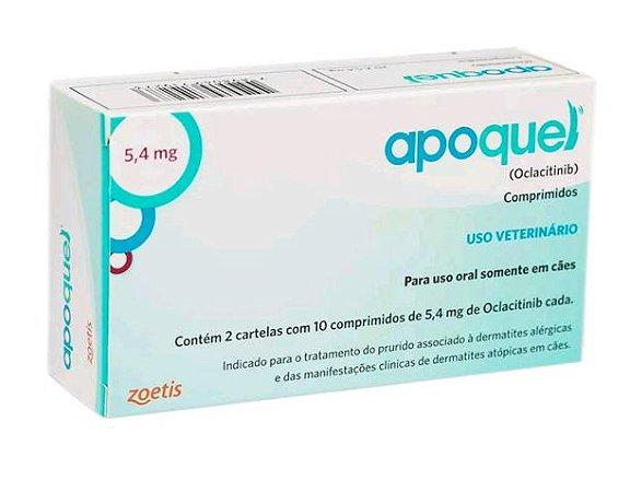 Apoquel Dermatológico Zoetis 5,4mg para Cães