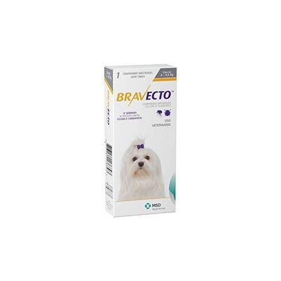 Bravecto cães de 2 a 4,5 Kg 112,5 mg, comprimido palatável (1 un)