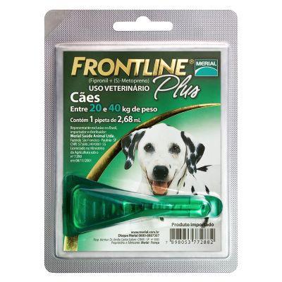 Frontline Plus cães de 20 Kg a 40Kg, pipeta (1 un)