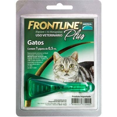 Frontline Plus gatos até 10 Kg, pipeta (1 un)