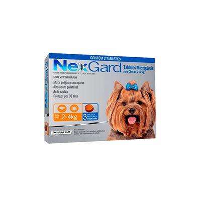NexGard cães de 2 a 4 Kg 11,3 mg, tablete mastigável (1 un)