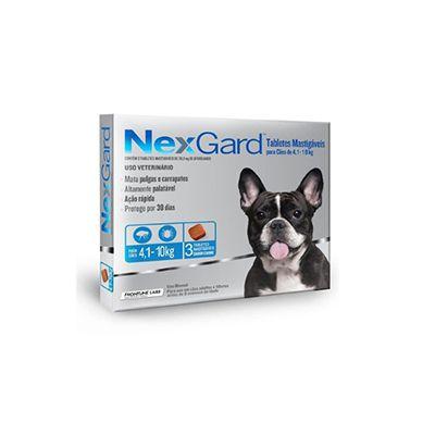 NexGard cães de 4,1 a 10 Kg 136 mg, tablete mastigável (1 un)