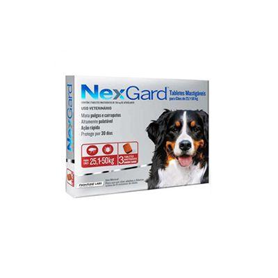 NexGard cães de 25,1 a 50 Kg 136 mg, tablete mastigável (1 un)