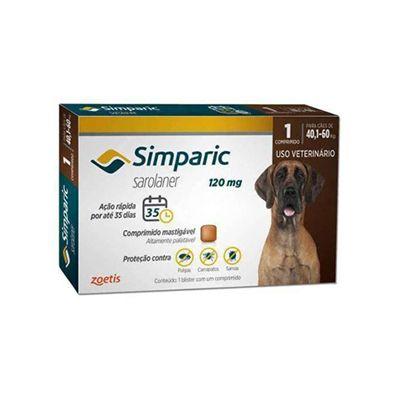 Simparic cães de 40,1 kg a 60,0 kg 120 mg, comprimido mastigável (1 un)