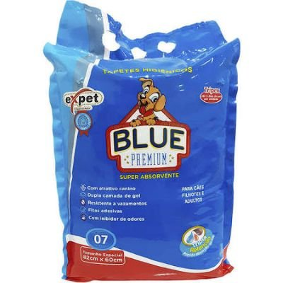 Tapete Higiênico Expet Blue Premium (7 un)