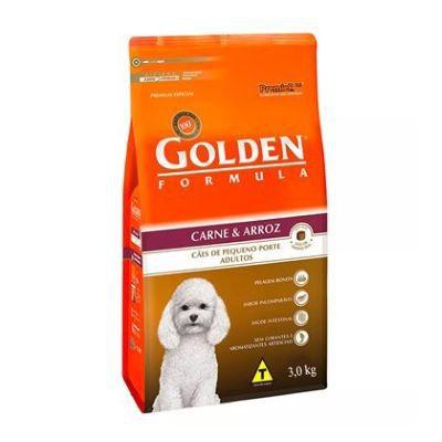 Golden Cão Carne & Arroz Cães de Pequeno Porte Adultos 3,0kg