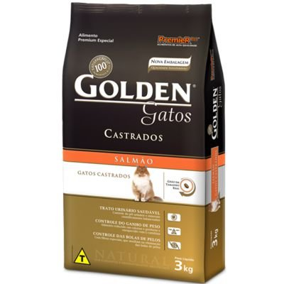 Golden Gatos Castrados Salmão 3,0Kg