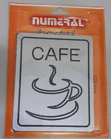 Placa Adesiva Luxo Cafe