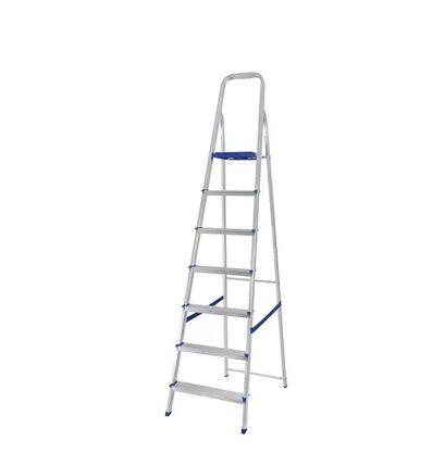 Escada de Alumínio Doméstica 7 Degraus Mor