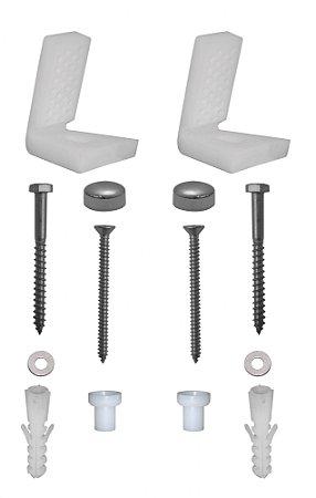 Kit Fixação Lateral Em (l) para Bacia Sanitária Kimetais