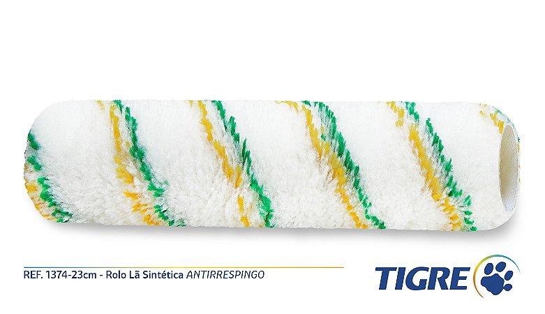 Rolo para Pintura 23cm Lã Sintética Antirrespingo Tigre