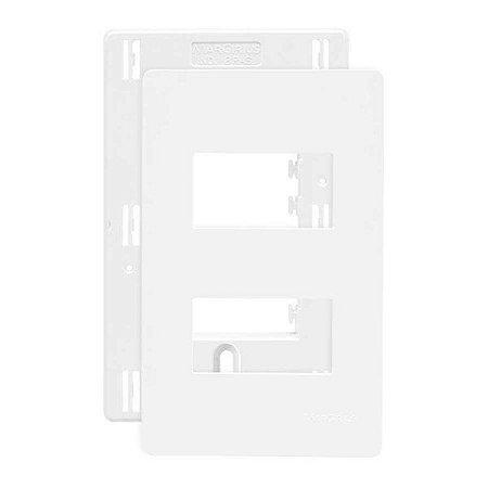 Placa 4x2 2 Postos Separados Branco Com Suporte Infiniti 18086 Margirius
