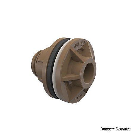 Adaptador Soldável Com Flange e Anel P/ Caixa D´água 25mm x 3/4 Tigre