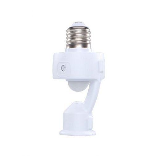 Sensor de Prsença Com  Soquete Fotocélula Ajustável E27 Margirius
