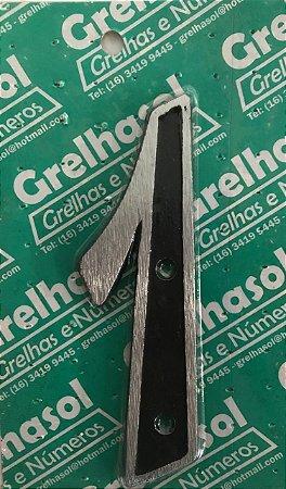 Algarismo Aluminio Medio Lixado Numero 1 - Grelhasol