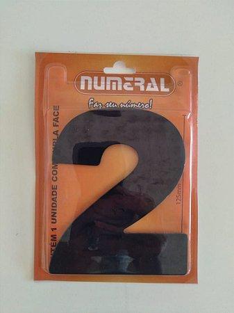 Número Preto 2 Adesivado- Numeral