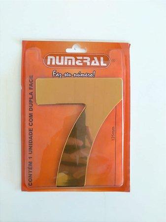Número Dourado 7 Adesivado - Numeral