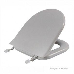 Assento Almofadado Calypso Cinza Platina  -48 ( Astra)