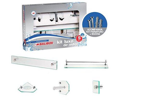 Kit Acessórios de Vidro Luxo Incolor 5 Peças - Balibox