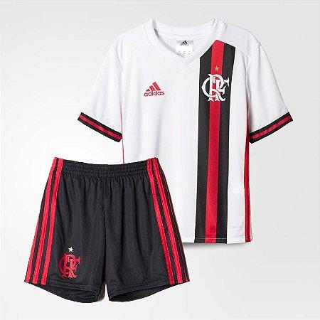 Kit Infantil Flamengo Branco 2017 adidas Original - Footlet c040e29d27aa9