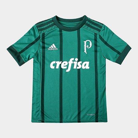 1496020cacccb Camisa Infantil Palmeiras Adidas Uniforme 1 Original - Footlet