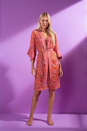 Kimono Longo Onça - Silvia Schaefer