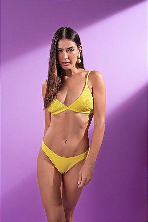 Conjunto Biquíni Triângulo Amarelo Candy Collor - Silvia Schaefer