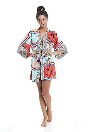 Kimono De Praia Geométrico