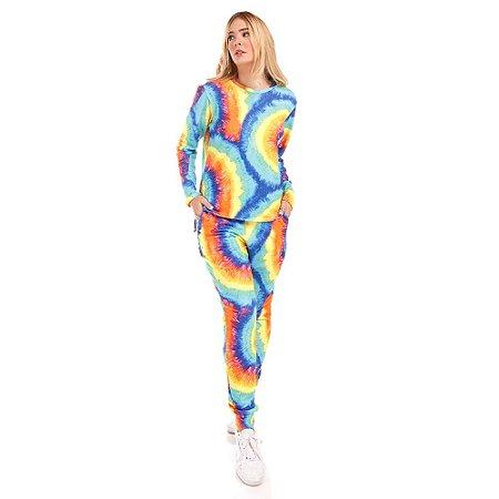 Conjunto Moletinho Tie Dye Espiral Silvia Schaefer