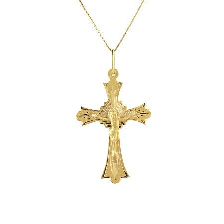 Pingente cruz em ouro amarelo PC 1.36