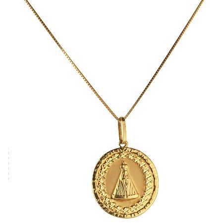 Pingente medalha em ouro amarelo 18k PC 2.36