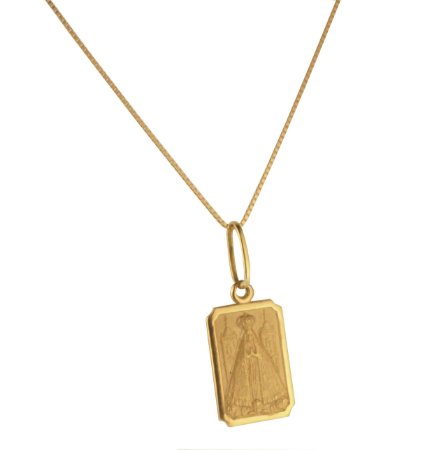Pingente placa com nossa senhora em ouro amarelo 18k PC 2.49