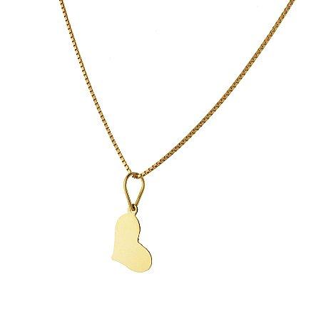Pingente coração em ouro amarelo 18k PC 1.90