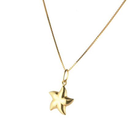 Pingente estrela do mar em ouro amarelo 18k PC 2.37