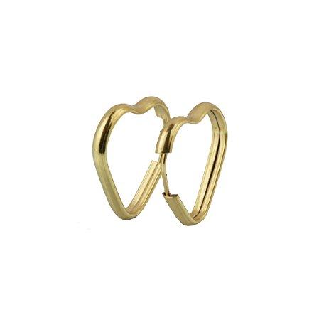Brinco de argola em formato de coração em ouro amarelo 18k  PC 1.33