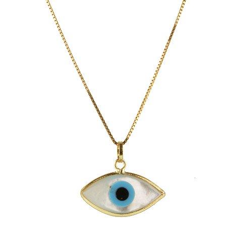 Pingente olho grego em ouro amarelo 18k PC 1.38